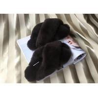 Sheep Wool Slippers Lambskin ladies cow leather slippers with sheepskin wool Manufactures