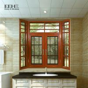 Multi - Colors Aluminum Casement Windows For Home Flanged Sash Profile Manufactures