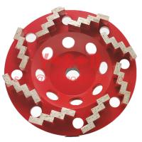 7inch  Soft Bond  9 Segments Grit #16/18 Zig Zag Cup Wheel Diamond Grinding Cup Wheels for Concrete Surface Preparation Manufactures