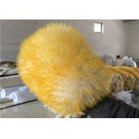Reusable Double sided Car Washing Mitt Glove Yellow Color With 100% Pure Wool Manufactures