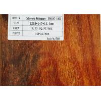 High Gloss V Groove Mahogany Natural Laminated Wooden Floor Anti-fading Manufactures