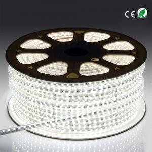 China 3528 60 Led High Voltage LED Strip Light , Indoor Bright White LED Rope Light on sale
