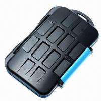 Water-resistant Extremely Tough Memory Card Case for 4 CF and 8 SD Cards  Manufactures