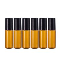 Glass Amber Empty Essential Oil Bottles Leakage Proof High Tightness Manufactures