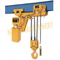 7.2 m / Min Max Lifting Speed 10 Ton Electric Chain Hoist For Single / Double Speed Manufactures