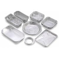Custom Food Packaging Aluminium Foil Baking Trays , Disposable Aluminum Pans Manufactures