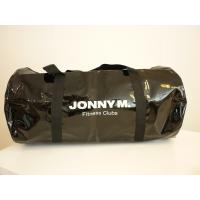 Quality Black color polyester vinyl fabric travel bag---shining vinyl fabric mamimated for sale