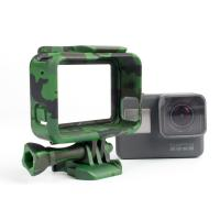 Camouflage Standard Border Frame Protective Action Camera Housing , GoPro Hero 5 housing for camera Manufactures