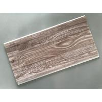Recyclable Brown PVC Wood Panels Easy Maintenance 2.5kg/Sqm - 3kg/Sqm