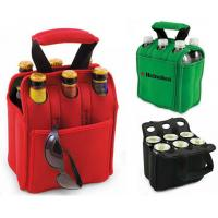China neoprene (eco-friendly material pass SGS test) hot sale bottle 6 bottle wine cooler bag on sale