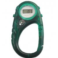 Unisex LCD Carabiner Watch Waterproof Digital Watch For Mountaineer Manufactures