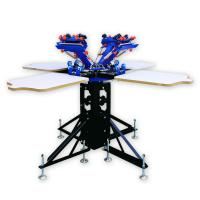 China manual 4 color 4 stations t shirt screen printing machine price on sale