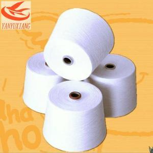 58/1 raw white polyester spun closed virgin yarn instock Manufactures
