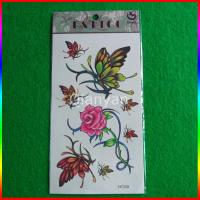 Temporary kids tattoo sticker , kids flower tattoo sticker Manufactures