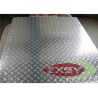 Silver 5052 Treadplate Embossed Aluminium Sheet Bright Finished , Aluminium Plate Manufactures