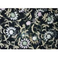 100% Polyester Embroidered Fabrics Contemporary Upholstery Fabric Manufactures