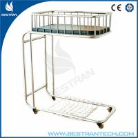 Movable Stainless Steel Medical Hospital Beds Dia 125mm , 800*500*610mm Manufactures