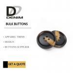 Fashionable Plastic Dress Bulk Buttons Brown & Black DTM Fabric Stock Size Manufactures