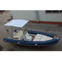 6m Luxury Inflatable Rib Boat 1587 KGS Light Boat With Fiberglass Step Manufactures