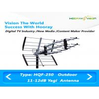 China Directional Outdoor Digital TV Antenna UHF 50W 11dBi With F Connector on sale