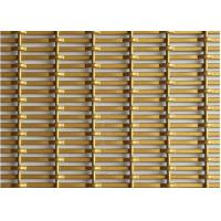 Crimped Decorative Wire Mesh , Architectural Steel Mesh In Gold Color For Office Manufactures