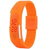 Ultra Thin Touch Screen Silicone Bracelet Watch , Red and white Light Manufactures