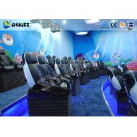 Midsize 4D Cinema System , Black and white Glass Fiber Reinforced Motion Chairs And Black Leather Manufactures