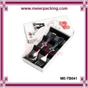 Custom spoon fork set wedding gift box, cutlery paper packaging box ME-TB041