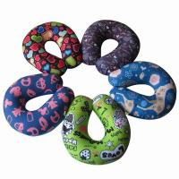 Custom print travel pillow,airplane neck suppport and rest pillow,horseshoe beads pillow Manufactures