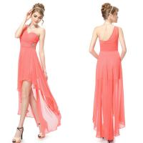 High low chiffon bridesmaid wedding dresses one shoulder for High low wedding dresses for sale