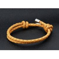 Quality Mens Leather Bracelets With Stainless Steel Hardware Trending Bangles Jewelry for sale