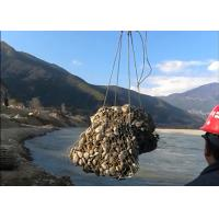 Temporary Flood Protection Gabion Rock Wall Cages 380 MPa Tensile Strength Manufactures