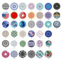 China 100% polyester microfiber round beach towels with tassels extra large size 150cm circle shape beach towel on sale