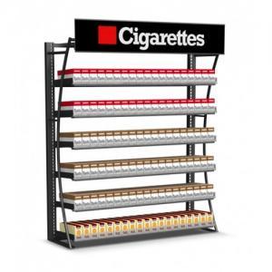 Durable Cigarette Pusher Pack Display Rack , Wall Mount Tobacco Display Rack