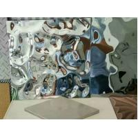 Water Wave Shaped Stainless Steel Panels Rose Gold Mirror Finish For Hotels Villa Lobby Interior Decoration Manufactures
