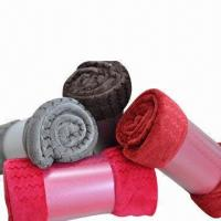 Coral Fleece Blankets, Made of 100% Polyester  Manufactures