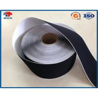 Black Soft Thin Double Sided Self Adhesive Hook And Loop Tape Roll With Glue Manufactures
