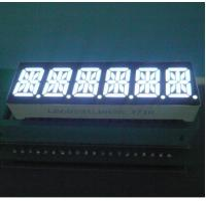 Six Digit 14 Segment LED Display 80-100mcd/ Dice Luminous Intensity Easy Mounting Manufactures