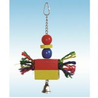 natural pine wood bird toys 10 inches jackstraw with sisal arms for preening Manufactures
