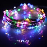 China Warm White Battery Operated LED String Lights Hanging LED Party String Lights on sale