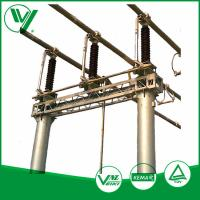 Outdoor Mounted Three - poles High Voltage Disconnect Switch With Steel Base Plate 126KV Manufactures