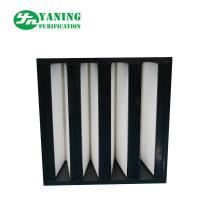 F7 F8 F9 H10 V Bank Filter With ABS Plastic Frame Manufactures