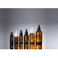 Empty Glass Dropper Bottles , 5ml - 100ml Amber Glass Vials With Dropper Manufactures