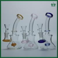 Quality Mini Beaker Glass Smoking Water Pipe Bubbler Dab Rigs Bowl 150g Weight for sale