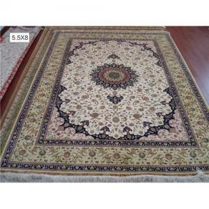 China Persian Nain silk carpet, 100% handmade, size:168cmx244cm on sale