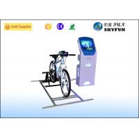 Blue 9D VR Virtual Cycling Simulator , Healthy Fitness Exercise Virtual Spin Bike Manufactures