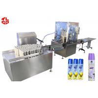 Deodorant Perfume Air Fresher Filling Machine 2000-3000cans/hr Fully Automatic Manufactures