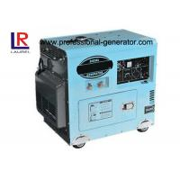 China 3000rpm / 3600rpm 6KW AC Single phase Air-cooled Diesel Generator Electric Start on sale