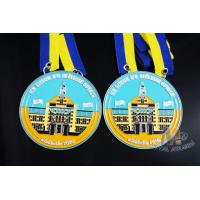 Full Soft Enamel Circle Shape Metal Award Carnival Medals With Two Ribbon Loop Manufactures