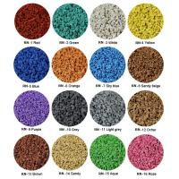 Sulphur Cured EPDM Rubber Granules , Customized Athletic Tracks Coloured Rubber Crumb Manufactures